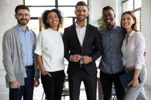helpful. smiling and cheerful senior women with her kind nurse